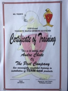 Andre Chote TERM-seal Training Success