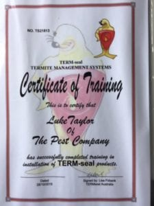 Luke Taylor Term-seal Training Success