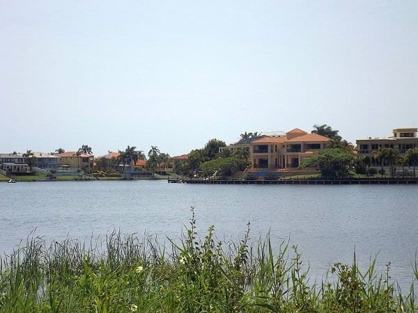 Canal and houses in Clear Island Waters, Queensland