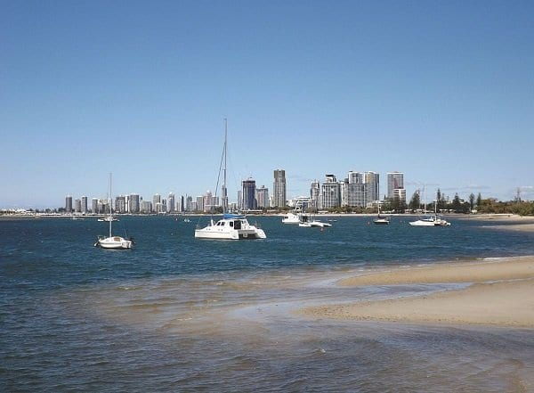 View Towards Southport from Labrador, Queensland